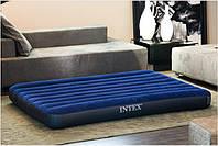 Двухспальный надувной флокированный матрас матрац INTEX CLASSIC 68759