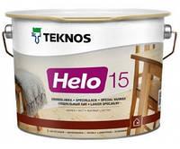 Лак для дерева яхтный универсальный уретан-алкидный полуматовый TEKNOS HELO 15 9л