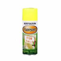 Флуоресцентная  краска-спрей жёлтая светоотражающая по металлу,для автотюнинга, Rust-Oleum 0,340 л