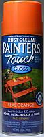 Эмаль универсальная алкидная RUST OLEUM Painter's Touch оранжевая глянцевая, спрей 0,340