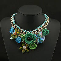 Колье ожерелье женское Carolina green