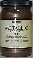 Краска декоративная,акриловая,насыщенный металлик мерцающая бронза класика,Metallic Accents Rust Oleum 0,946л