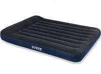 Надувной флокированный матрас матрац Intex 66770