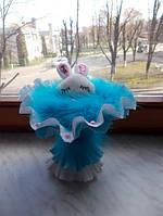 """Букет из мягкой игрушки """"Моя заинька"""" blue, фото 1"""