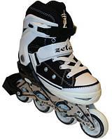 Роликовые коньки раздвижные Zelart Sport Z-823BK р 38-41, 34-37