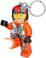 Брелок фонарик LEGO По Дамерон Звездные войны Poe Dameron Star Wars IQ (LGL-KE95)