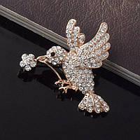 Брошь женская Kolibri