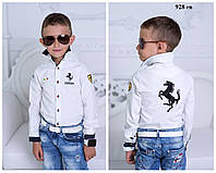 """Рубашка школьная на мальчика  """"Ferrari"""" 928 ев"""
