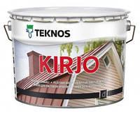 Эмаль алкидная TEKNOS KIRJO для крыш и листового металла белый (база 1) 9л
