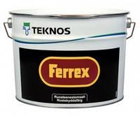 Грунт-эмаль TEKNOS FERREX антикоррозионная алкидная,цвет серый 3л