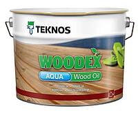 Масло воднодисперсионное TEKNOS WOODEX AQUA WOOD OIL для древесины, 2,7л