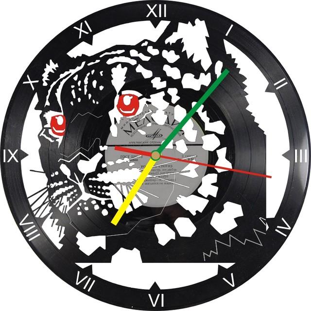 Настінні годинники з вінілових платівок Леопард