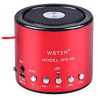 Мини портативная MP3 колонка от USB FM WS-A8 Red, фото 1