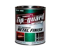 Эмаль алкидная с молотковым эффектом Zip-guard Зип-Гвард Тёмно-серая 9.45л, фото 1