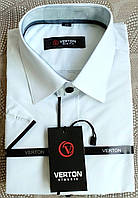 "Рубашка с коротким рукавом, тенниска белая (воротник 36/рост 164), ""Verton"" Турция"