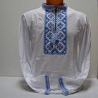 Трикотажная футболка вышиванка для мужчин белая