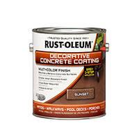 """Краска для бетона с эффектом камня цвет """"Коричневый минерал"""" Rust Oleum банка 3,78 л"""