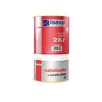 Краска по металлу и оцинковке акрилово полиуретановая двух компонентная для техники   2КР ISAVAL  0,75л