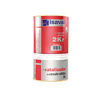 Эмаль полиуретановая двухкомпонентная белая 2КР ISAVAL 4л