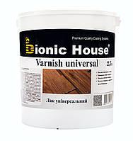 Лак для деревянных поверхностей  на водной основе для наружных и внутренних работ Bionic House 2,5л