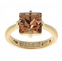 """Кольцо """"SW Ларен"""" с кристаллами Swarovski, покрытое золотом (r664p025)"""