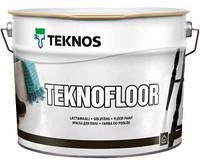 Эмаль для пола уретан алкидная Teknofloor Teknos база 1 0,9л