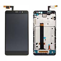 Дисплей (экран) для Xiaomi Redmi Note 3 + тачскрин, с передней панелью, цвет черный, фото 1