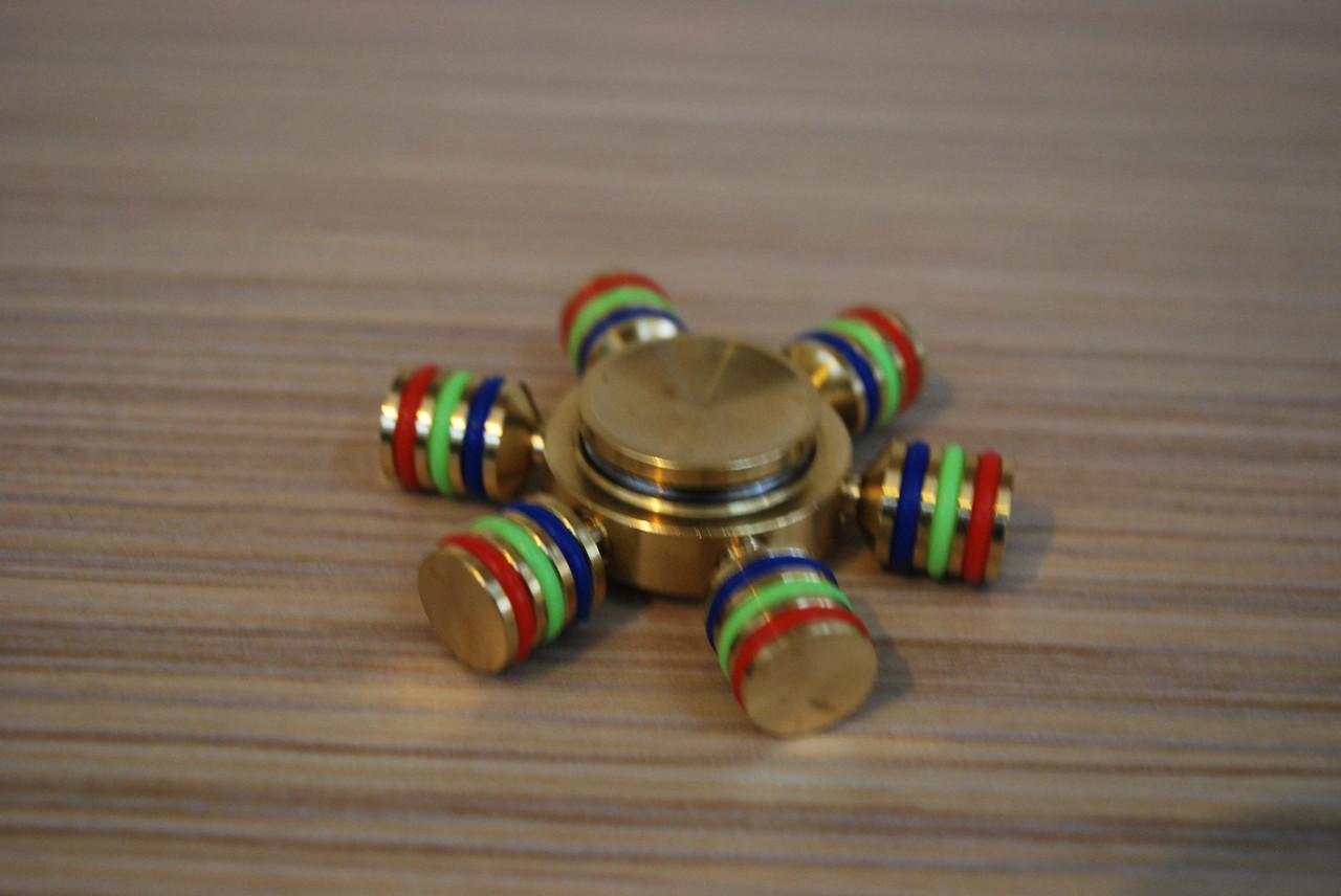 Hand Spinner спиннер металлический, антистресс, тренажер Copper SP штурвал, Б346
