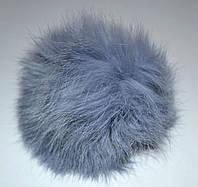 Меховой помпон Кролик дымчато-серый 8 см.