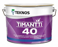 Краска полуглянцевая для влажных помещений TEKNOS Timantti 40 2,7л База 1