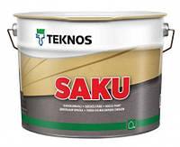 Краска для цоколя  щелочестойкая TEKNOS Saku 9л База 3 в темные тона