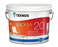 Краска  акрилатная полуматовая для стен TEKNOS Biora 20 9 л База 1