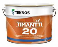 Краска полуматовая для влажных помещений TEKNOS Timantti 20 0,9л База 1