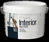 Акриловая интерьерная эмаль Flugger Interior High Finish 90 глянцевая 3л белая