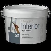 Акриловая интерьерная эмаль Flugger Interior High Finish 50 полуглянцевая 3л белая