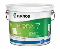 Краска  акрилатная для стен TEKNOS Biora 7 9л База 1