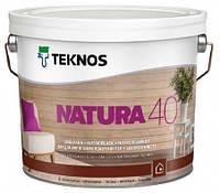 Лак для дерева мебельный акриловый TEKNOS Natura 40 полуглянцевый  9 л