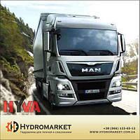 Гидравлика  Hyva на MAN с высококачественным алюминиевым баком