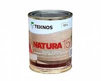Лак для дерева мебельный акриловый TEKNOS Natura 15 полуматовый 9 л