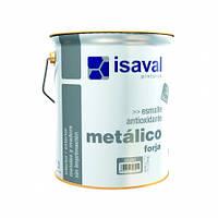 Эмаль противокоррозионная 3в1 эффектом кованого железа серебристая ISAVAL Forja  0,75 л