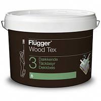 Алкидная кроющая пропитка для дерева Flugger Wood Tex Opaque 10 л белая база
