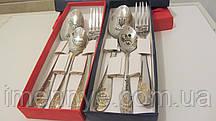 Подарочные столовые приборы с лазерной гравировкой ложек вилок сувенир на свадьбу