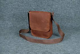 Мужская сумка через плечо  10112  Коньяк