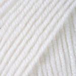 Пряжа для ручного вязания Yarnart Merino De Luxe 50( мерино де люкс 50) нитки зимняя пряжа 501 белый