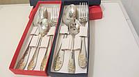 Уникальный набор посуды с именем на подарок начальнику с гравировкой рисунка на ложке