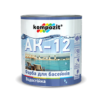 Краска для бассейнов АК-12 Kompozit голубая 0,9кг