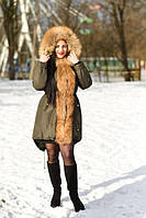 Парка с мехом финского енота