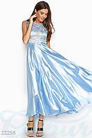 Атласное вечернее платье S M L