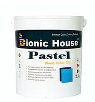 Краска лазурь для дерева акрилатная водоразбавляемая BIONIC HOUSE Pastel Wood Color 2,5 л Зефир Р205
