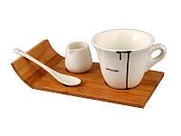 Фарфоровая кофейная чашка 150 мл на подставке Lefard 263-628